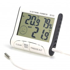 Thermometer-hygrometer (digital air humidity meter) with remote sensor DC-103