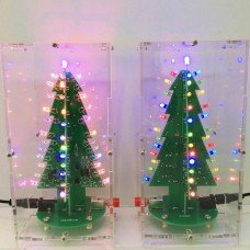 Set for assembling electronic led Christmas tree in a transparent case
