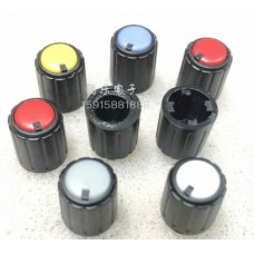 Round handle for potentiometer D=10mm; h=11mm; landing hole 6 * mm
