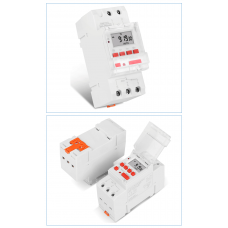 Electronic programmable digital relay with timer universal 220V Sinotimer TM919 30A for DIN rail