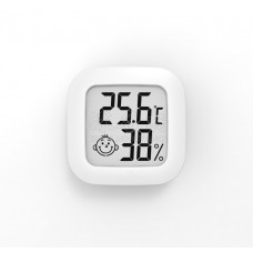 Miniature hygrometer with a smiley face