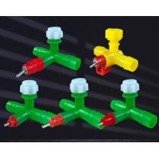 Nipple drinker green 360 degrees for hose diameter 14 mm