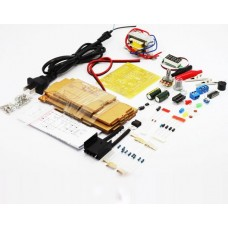 Assembly kit for linear voltage regulator with adjustment on the LM317 with a voltmeter
