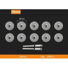 Алмазный отрезной диск с гальваническим покрытием 20 мм 10 шт. с 2 держателями