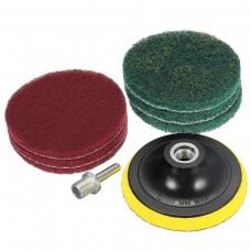 4-дюймовая круглая фибровая полировальная дискета и самоклеящийся набор из 6 дисков