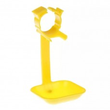 Drip tray universal for the drinker nipple with a pipe 25 mm. Yellow.